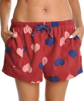 Angelina Red & Blue Heart Fleece Boxers - Plus Too
