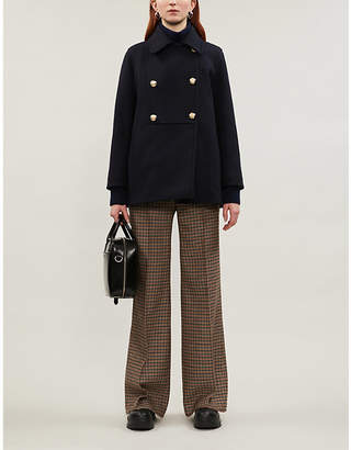 Sandro Faneli double-breasted wool coat