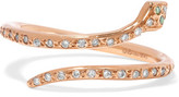 Ileana Makri Small Python 18-Karat Rose Gold Diamond Ring