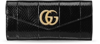Gucci Broadway snakeskin double G clutch