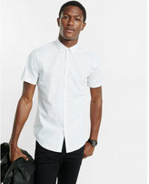 Express short sleeve micro print shirt