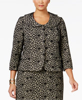Kasper Plus Size Lace Three-Button Blazer