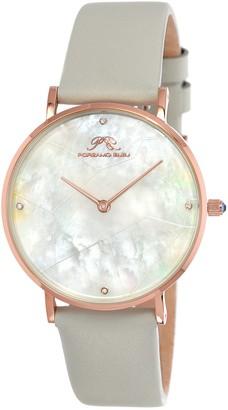 Porsamo Bleu Women's Paloma Mother of Pearl Interchangeable Strap Watch, 36mm