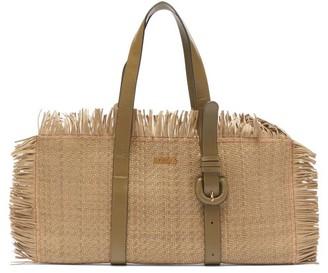 Jacquemus Les Tresses Fringed Leather Bag - Khaki
