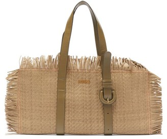 Jacquemus Les Tresses Fringed Leather Bag - Womens - Khaki