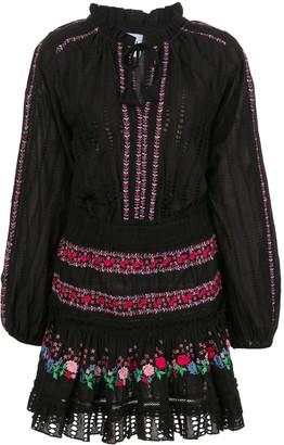 MISA Manuela floral embroidered dress