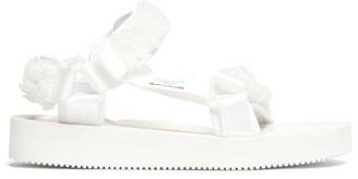 Cecilie Bahnsen X Suicoke Maria Beaded Velcro-strap Sandals - White