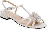 Ros Hommerson White Jackie Leather T-Strap Sandal