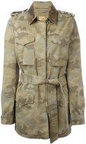 Fay camouflage pattern trenchcoat - women - Cotton/Acrylic/Polyester/Polyurethane - M