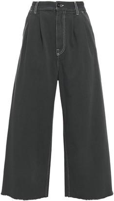 MM6 MAISON MARGIELA Cropped High-rise Wide-leg Jeans