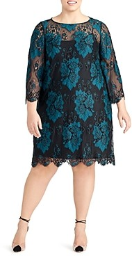 Rachel Roy Plus Madeline Two-Tone Lace Dress