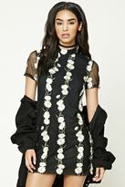 Forever 21 Daisy Embroidered Shift Dress