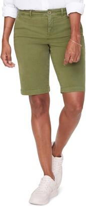 NYDJ Stretch Cotton Blend Twill Bermuda Shorts