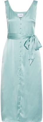 CAMI NYC The Freddie Belted Silk-satin Midi Dress