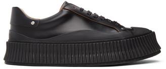 Jil Sander Black Vulcanized Sneakers