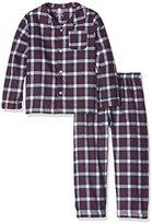 Mamas and Papas Baby-Boys Boys Jersery/Woven Pyjamas Checkered Long Sleeve Pyjama Set