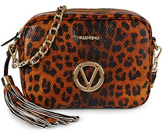 Valentino By Mario Valentino Mia Animalier Cheetah Leather Camera Bag