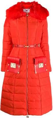 Elisabetta Franchi belted padded coat
