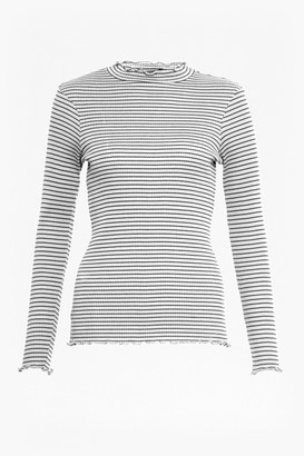 French Connection Tim Tim Ribbed Striped Top