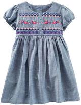 Osh Kosh Embroidered Chambray Dress