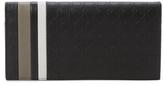 Salvatore Ferragamo Striped Gancio Leather Long Wallet