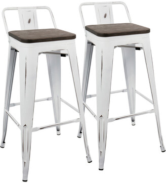 Lumisource Set Of 2 Oregon Low Back Barstools
