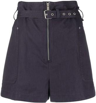 Etoile Isabel Marant Paperbag-Waist Belted Shorts