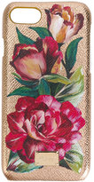 Dolce & Gabbana floral iPhone 7 case - women - Calf Leather/plastic - One Size