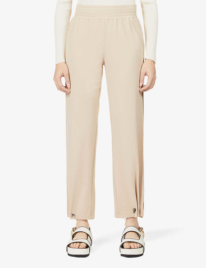 Alice + Olivia Ridley mid-rise stretch-jersey trousers