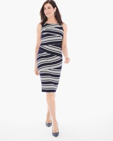 Chico's Textured Stripe Short Dress