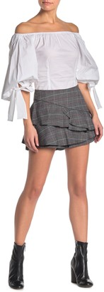 Do & Be Do + Be Plaid Ruffled Skort