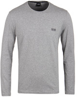 Boss Grey Marl Long Sleeve T-shirt