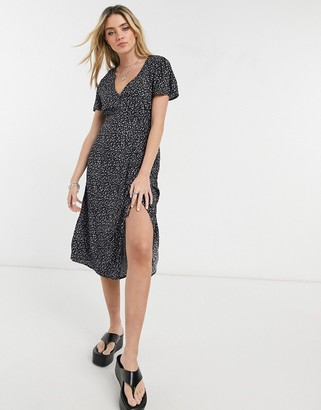 Cotton On Cotton:On ruched midi dress in ditsy black