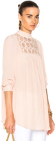 Smythe Eyelet Tunic Top in Neutrals,Pink.