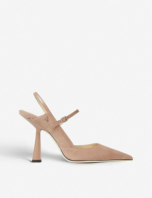 Jimmy Choo Ray 100 slingback suede courts