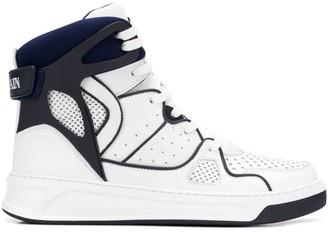Balmain Lace-Up Hi-Top Sneakers