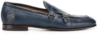 Silvano Sassetti woven leather monk shoes