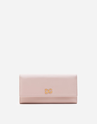 Dolce & Gabbana Calfskin Continental Wallet With Baroque