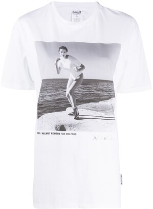 Wolford x Helmut Newton photo-print T-shirt