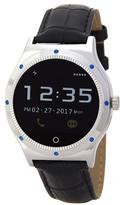 Polaroid Men's Croc Embossed Leather Strap Smartwatch