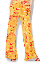 New York & Co. 7th Avenue Pant - Palazzo - Drawstring - Floral