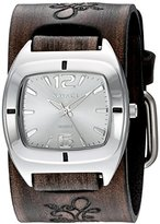 Nemesis Women's 'Retro Vintage Series' Quartz Stainless Steel and Leather Automatic Watch, Color:Brown (Model: DBVFB090S)