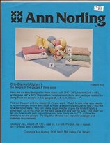Crib - Blanket - Afghan I - Ann Norling Knitting Pattern #32 - Pattern Only