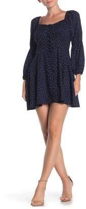 Angie Polka Dot Square Neck Mini Dress