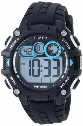 Timex Men's TW5M27000 DGTL Big Digit 48mm Black/Gray/Red Silicone Strap Watch