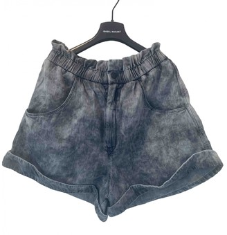 Etoile Isabel Marant Grey Denim - Jeans Shorts