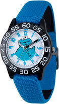Sesame Street Boys Blue And Black Cookie Monster Time Teacher Strap Watch W003203
