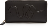 Gucci Snake-embossed leather wallet