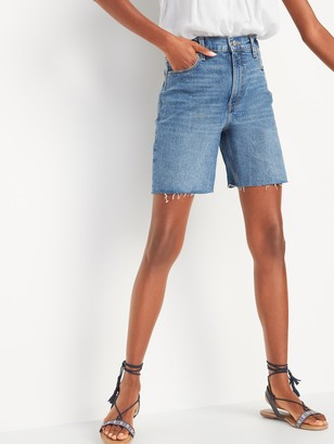 Old Navy Extra High-Waisted Sky Hi Cut-Off Jean Shorts for Women -- 7-inch inseam