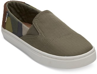 Toms Youth's Luca Canvas Slip-On Sneakers